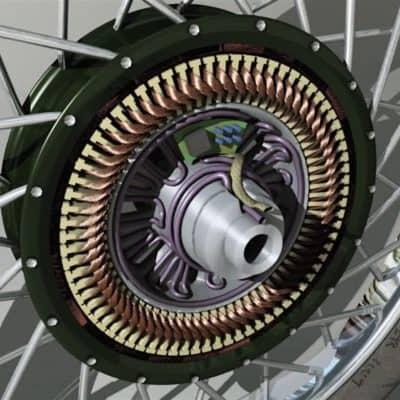 мотор-колесо первые версии
