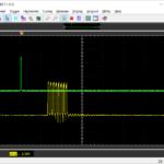 Тригер (CH1) и Передатчик (CH2)